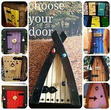 Fairy Pixie door CHOOSE YOUR DOOR personalised handmade garden indoor ornament