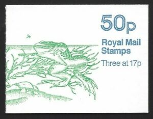Great Britain 1986 50p Common Frog booklet SG# FB33 NH