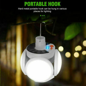 USB Rechargeable Solar LED Bulb Light Portable Outdoor Garden Camping Tent Lamp