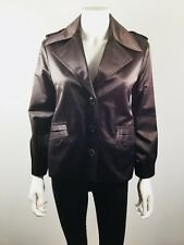 ISDA & CO. Brown Button Front Blazer Suit Jacket Size X Small