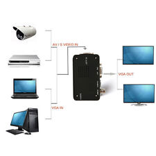 VCD DVD Webcam BNC Video Camera to VGA Out PC PS2 Monitor Converter Adapter Box