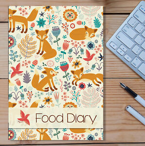 A5 Diet Diary Slimming Weight Loss Tracker Diet Planner Food Journal Dieting Fox