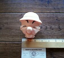 Vintage Mr. Magoo HEAD Plastic Doll Toy Cartoon novelty project ~
