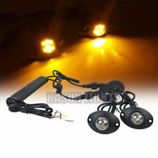 2in1 12 W LED Hide Away Emergency Flashing Vehicle Warning Strobe Lights Amber