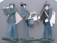 Edna Oar Young Shadowdancer folk art Americana civil war soldiers union  set 3