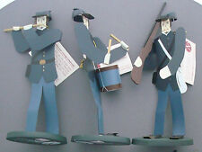 Edna Oar Young Shadowdancer folk art Americana civil war soldiers union  set 3