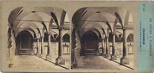 Florence Cloître St Marc Italie Stereo Furne et Tournier Vintage albumine c 1857