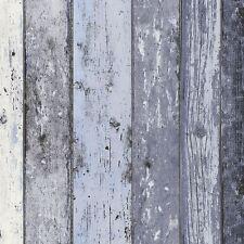 Madera apenado Panel de fondo de pantalla azul-AS Creation 8550-60 Con Textura