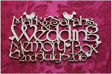 MDF Wooden Personalised Wooden Wedding Keepsake Memory Box Topper Craft wall ...