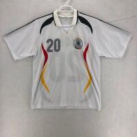 Lukas Podolski 20 Germany Deutschland National Golden Goal Mens Jersey White XXL