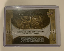 2019-20 Upper Deck Artifacts Jack Hughes Gold Dual Jersey Redemption Unscratched