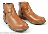 Mens Boots Military Biker Buckle Walking Shoes Rubber Sole Size New Fashion Army