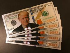 5 Pieces ($100)US Donald Trump Dollar $ Silver Plated Bills(banknotes)