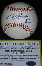 CHICAGO WHITE SOX FRANK THOMAS 93 94 AL MVP AUTOGRAPHED AUTO MLB BASEBALL COA ES