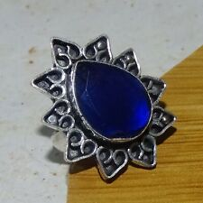 925 Sterling Silver Plated Blue Sapphire Ring Jewelry Size 5 US  NOR56