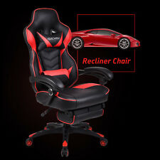 Elecwish Sports Racing Gaming Computer Leather Office Chair Ergonomic Recliner