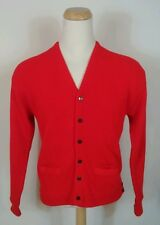 Vtg 40's 50's PennLeigh Cardigan Sweater Virgin Orlon Acrylic Mens L Rockabilly