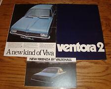 Original 1971 Vauxhall Sales Brochure Lot of 3 Firenza Viva Ventora 2