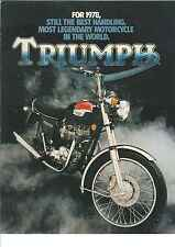 TRIUMPH 1978 - The Legend Lives On -  2 page Motorcycle Brochure NCS