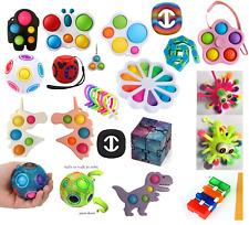 Pop Fidget Toy Push It Simple Dimple Bubble Key Chain Sensory Toy Stress Relief