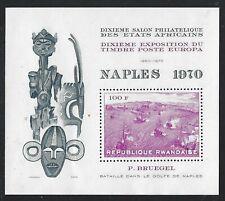 1970 Rwanda Scott #334 - 100fr Naples 1970 Souvenir Sheet - MNH