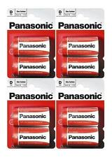 4x Paquete de 2 Piezas Panasonic R20R-2BP batería de tamaño D (8 baterías) - Nuevo