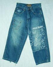 Boy's or Girl's PHAT FARM Wide Leg Embellished HIGH Waist Jeans!  6
