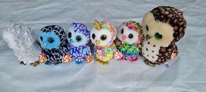 TY Beanie Boos OWLS Lot