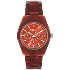 LIU JO Luxury TURTLE Reloj De Mujer TLJ530 Multifunciòn Policarbonato Brown