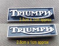 Triumph Motorcycle Black & Silver Enamel Pin Badge Transportation Motorbike