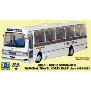 B-T MODELS NB001 1:148 N GAUGE DUPLE DOMINANT II NATIONAL TRAVEL EAST