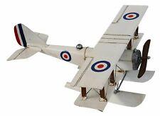 Modèle d'avion biplan métal avion style antique hydravion