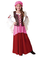 Victorian Edwardian Little Nell Tavern Girl New Fancy Dress Costume For Kids