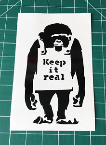 BANKSY KEEP IT REAL STICKERS STICKY DECALS WALL CAR VAN WINDOW BUMPER LAPTOP