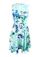 Calvin Klein Women's Petite Floral-Print Fit & Flare Dress