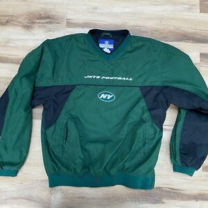 NFL New York NY Jets Pullover Embroidered Logo Reebok On Field Mens Medium