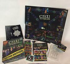 CSI Board Game Encore Edition 2006 8 new csi cases to solve