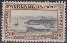 c258) Falkland Islands 1933. MM. SG 130 2d Black & brown. Ships. c£17+