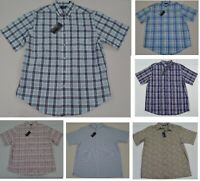 NWT Men's Roundtree & Yorke Button Front Short Sleeve Shirt