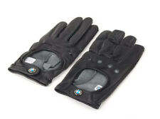 Genuine BMW Leather Driving Gloves With Roundel Emblem Size Medium 80162150526