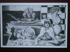 POSTCARD SOCIAL HISTORY SET PIECE - LEWIS CARROL 'THRO THE LOOKING GLASS' - PH T