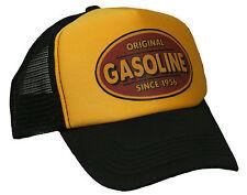 Gasoline Trucker Cap Hotrod V8 US Car Oldschool Bike Mütze Gelb Schwarz Basecap