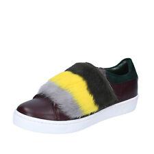 scarpe donna ISLO ISABELLA LORUSSO 39 EU sneakers bordeaux verde pelle BZ212-D