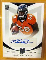 MONTEE BALL - 2013 Momentum Rookie Autograph SP - Denver Broncos RC /99