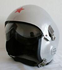 Milita Casco de Abierto Vuelo Jet MOTO Scooter Vespa PLATA doble Visera S M L XL