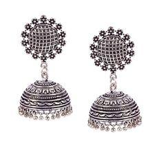 Traditional Silver Oxidized Plated Jhumka Jhumki Ethnic Earring jewelry women