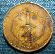 DOMINICAN REPUBLIC BRONZE COIN 1/4 Real, KM2 VF 1844