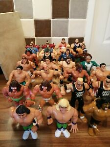 27 VINTAGE HASBRO WWF WRESTLERS