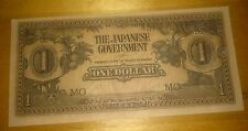 Malaya Japanese Occupation JIM One Dollar $1 banknotes Prefix MO 1pc aVF