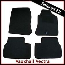 VAUXHALL VECTRA B 1995-2002 1-eyelet Tailored Carpet Car Floor Mats BLACK
